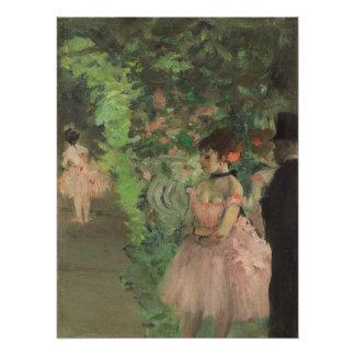 Tänzer-Bühne hinter dem Vorhang Edgar Degass |, Poster