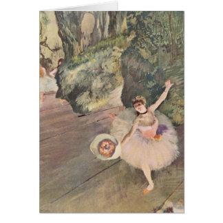 Tänzer Edgar Degass | nimmt einen Bogen Karte
