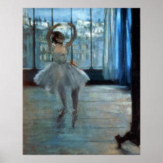 Tänzer Edgar Degass | vor einem Fenster Poster
