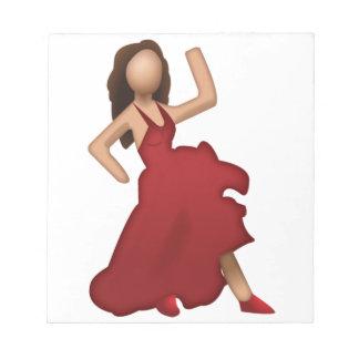 Tänzer - Emoji Notizblock
