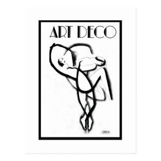 Tänzer entwirrten ~ schwarzen u. weißen Kunst-Deko Postkarte