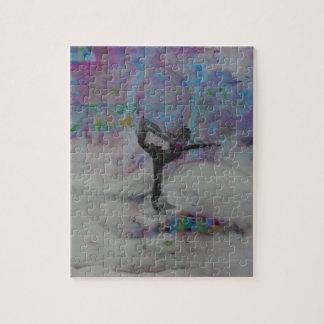 Tänzer im Schnee - Puzzlespiel Puzzle