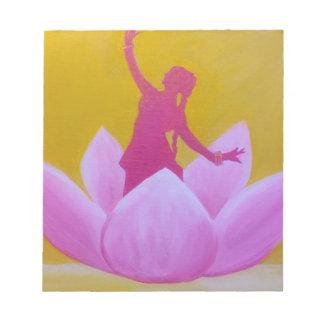 Tänzer Lotuss Kathak Notizblock