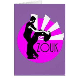 Tänzer mit Zouk Schriftzug Karte