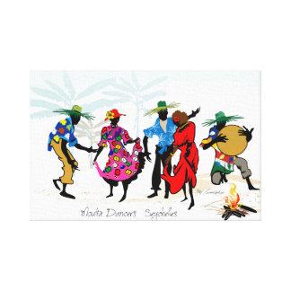 Tänzer Seychellen Moutia Leinwanddruck