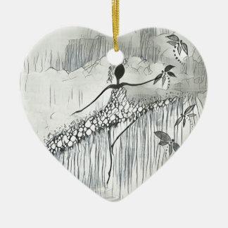 TÄNZER UND LIBELLEN 11 KERAMIK Herz-Ornament