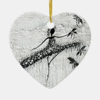 TÄNZER UND LIBELLEN 17 KERAMIK Herz-Ornament