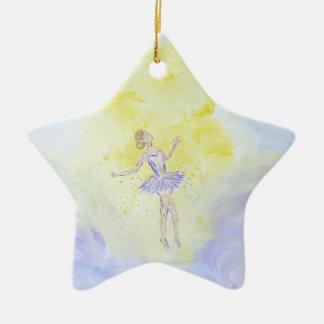 Tänzerin Keramik Stern-Ornament