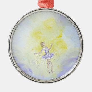 Tänzerin Silbernes Ornament