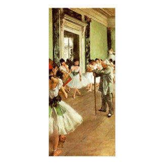 Tanzklasse-Gestell-Karten Werbekarte