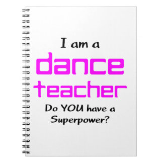 Tanzlehrer Spiral Notizblock