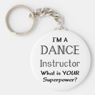 Tanzlehrer Standard Runder Schlüsselanhänger