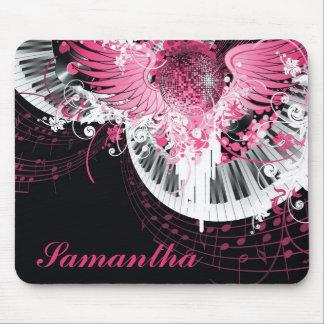 Tanzmusik-Disco-Ball-Klavier personalisiertes Mauspad