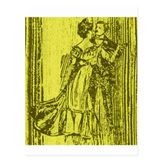 Tanzpaare 2 postkarte
