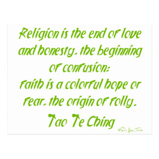 Tao Te Ching auf Religion Postkarte