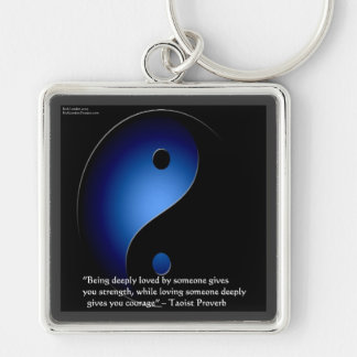 Taoismus-Liebe/Mut-Sprichwort Schlüsselanhänger