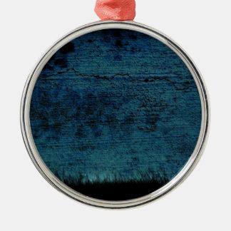 Tapeten-Hintergrund Rundes Silberfarbenes Ornament