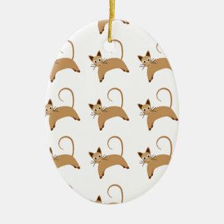 Tapeten-Hintergrundmuster der niedlichen Katzen Keramik Ornament