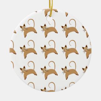 Tapeten-Hintergrundmuster der niedlichen Katzen Rundes Keramik Ornament