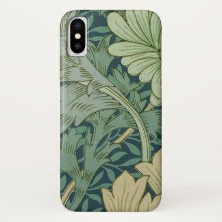 Tapeten-Muster-Probe mit Chrysantheme iPhone X Hülle