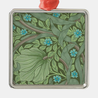 Tapeten-Muster-Probe mit Vergissmeinnichten Silbernes Ornament