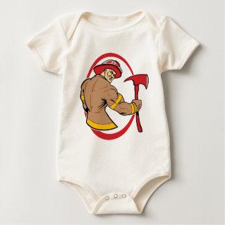 Tapferer Feuerwehrmann Baby Strampler
