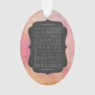 Tapferere stärkere intelligentere und schöne ornament