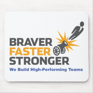 Tapfereres schnelleres stärkeres - Logo Mauspad