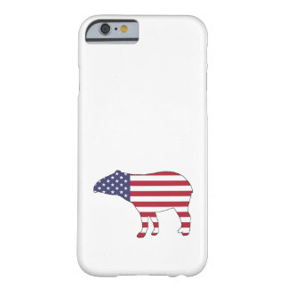 """Tapir """"amerikanische Flagge """" Barely There iPhone 6 Hülle"""