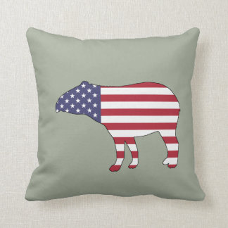 "Tapir ""amerikanische Flagge "" Kissen"