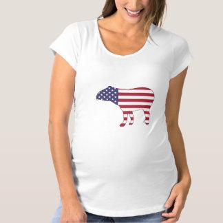 """Tapir """"amerikanische Flagge """" Schwangerschafts T-Shirt"""