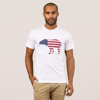 "Tapir ""amerikanische Flagge "" T-Shirt"