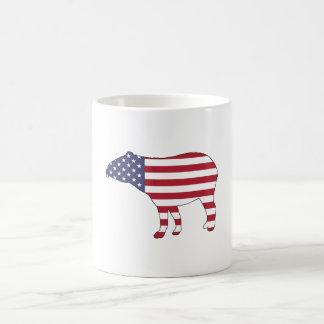 "Tapir ""amerikanische Flagge "" Tasse"