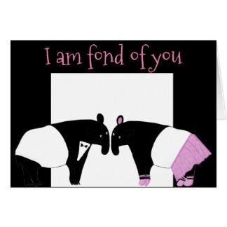 Tapirs -- Ich bin in Sie vernarrt Karte