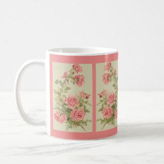 Tapisserie-Art-Rosa-Rosen Kaffeetasse