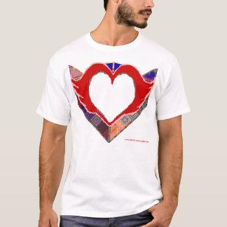 Tapisserie-Herz T-Shirt