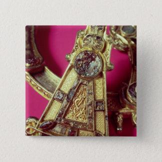 Tara-Brosche Quadratischer Button 5,1 Cm