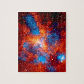 Tarantula-Nebelfleck-buntes Infrarotraum-Foto Puzzle