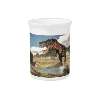 Tarbosaurus Dinosaurier - 3D übertragen Getränke Pitcher