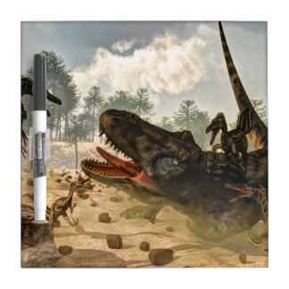 Tarbosaurus griff durch Velociraptors an Memoboard