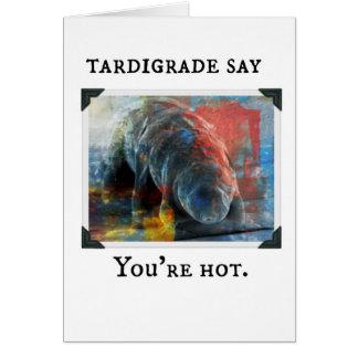 Tardigrade sagen Sie - Sie sind heiß Karte