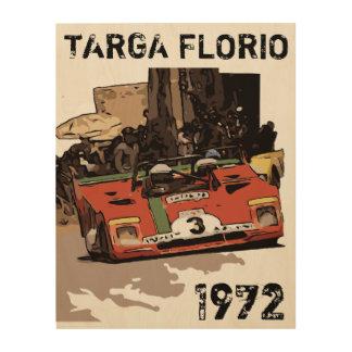 TARGA FLORIO RENNEN HOLZDRUCK