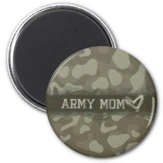 Tarnungs-Armee-Mamma-Herz der Liebe Runder Magnet 5,1 Cm