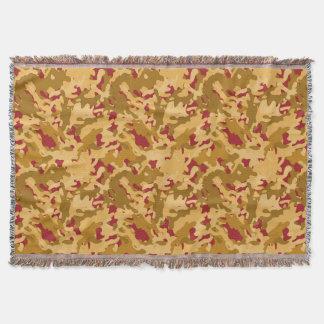 Tarnungs-Camouflage-Druck-Wüsten-orange Rot TAN Decke