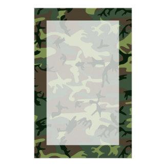 Tarnungs-Camouflage-Grün-Brown-Muster Briefpapier