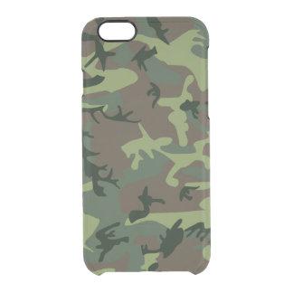 Tarnungs-Camouflage-Grün-Brown-Muster Durchsichtige iPhone 6/6S Hülle