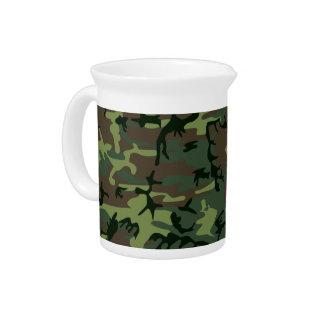 Tarnungs-Camouflage-Grün-Brown-Muster Getränke Pitcher