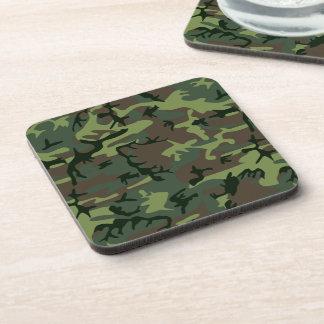 Tarnungs-Camouflage-Grün-Brown-Muster Getränkeuntersetzer