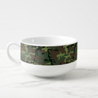 Tarnungs-Camouflage-Grün-Brown-Muster Große Suppentasse