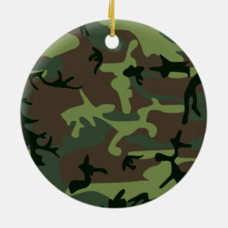 Tarnungs-Camouflage-Grün-Brown-Muster Keramik Ornament